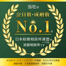 当社は会員数・成婚数No.1 日本結婚相談所連盟(IBJ)の加盟相談所です